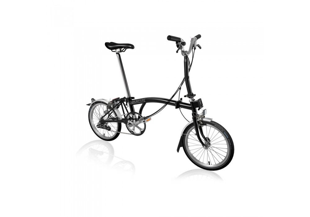 Brompton Steel M6L Folding Bike with Mudguards & Front Carrier Block
